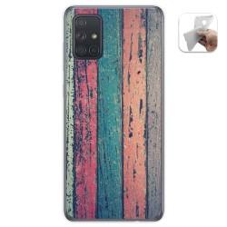 Funda Gel Tpu para Samsung Galaxy A71 5G diseño Madera 10 Dibujos