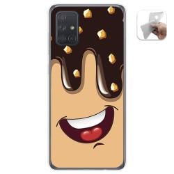 Funda Gel Tpu para Samsung Galaxy A71 5G diseño Helado Chocolate Dibujos