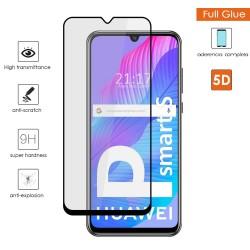 Protector Cristal Templado Completo 5D Full Glue Negro para Huawei P Smart S / Y8p Vidrio