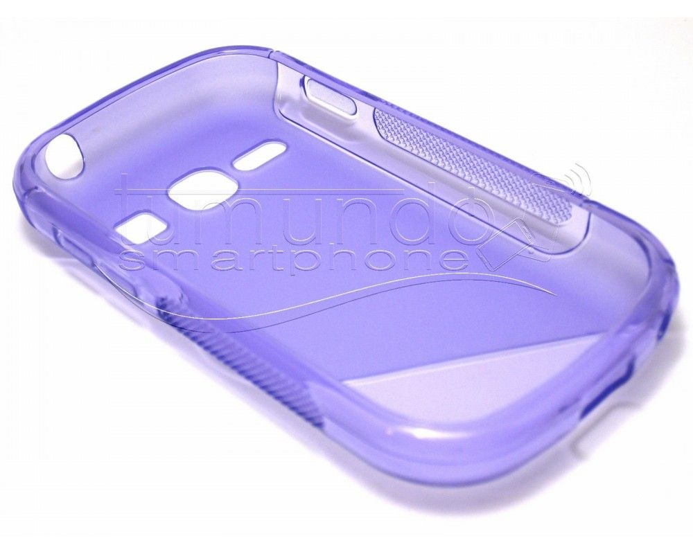Funda Gel Tpu Samsung Galaxy Fame S6810 S Line Color Morada