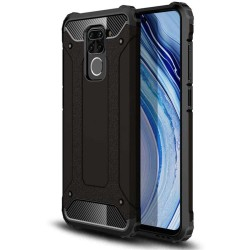 Funda Tipo Hybrid Tough Armor (Pc+Tpu) Negra para Xiaomi Redmi Note 9