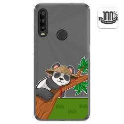 Funda Gel Transparente para Alcatel 1SE 2020 diseño Panda Dibujos