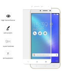"Protector Cristal Templado Frontal Completo Blanco para Asus Zenfone 3 Max 5.5"" Zc553Kl Vidrio"