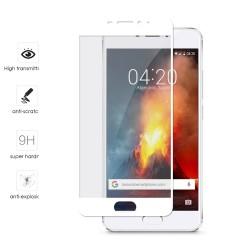 Protector Cristal Templado Frontal Completo Blanco para Meizu M5 Note Vidrio