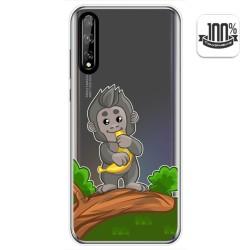 Funda Gel Transparente para Huawei P Smart S / Y8p diseño Mono Dibujos