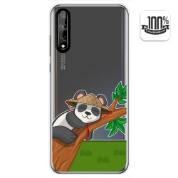 Funda Gel Transparente para Huawei P Smart S / Y8p diseño Panda Dibujos