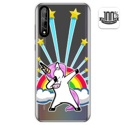 Funda Gel Transparente para Huawei P Smart S / Y8p diseño Unicornio Dibujos