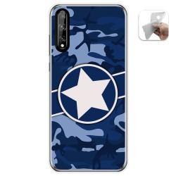 Funda Gel Tpu para Huawei P Smart S / Y8p diseño Camuflaje 03 Dibujos
