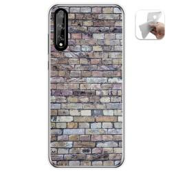Funda Gel Tpu para Huawei P Smart S / Y8p diseño Ladrillo 02 Dibujos