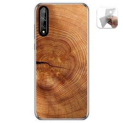 Funda Gel Tpu para Huawei P Smart S / Y8p diseño Madera 04 Dibujos
