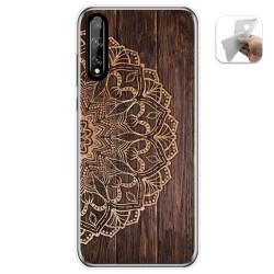 Funda Gel Tpu para Huawei P Smart S / Y8p diseño Madera 06 Dibujos