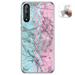 Funda Gel Tpu para Huawei P Smart S / Y8p diseño Mármol 08 Dibujos