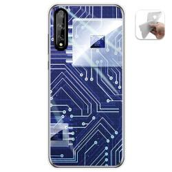 Funda Gel Tpu para Huawei P Smart S / Y8p diseño Circuito Dibujos