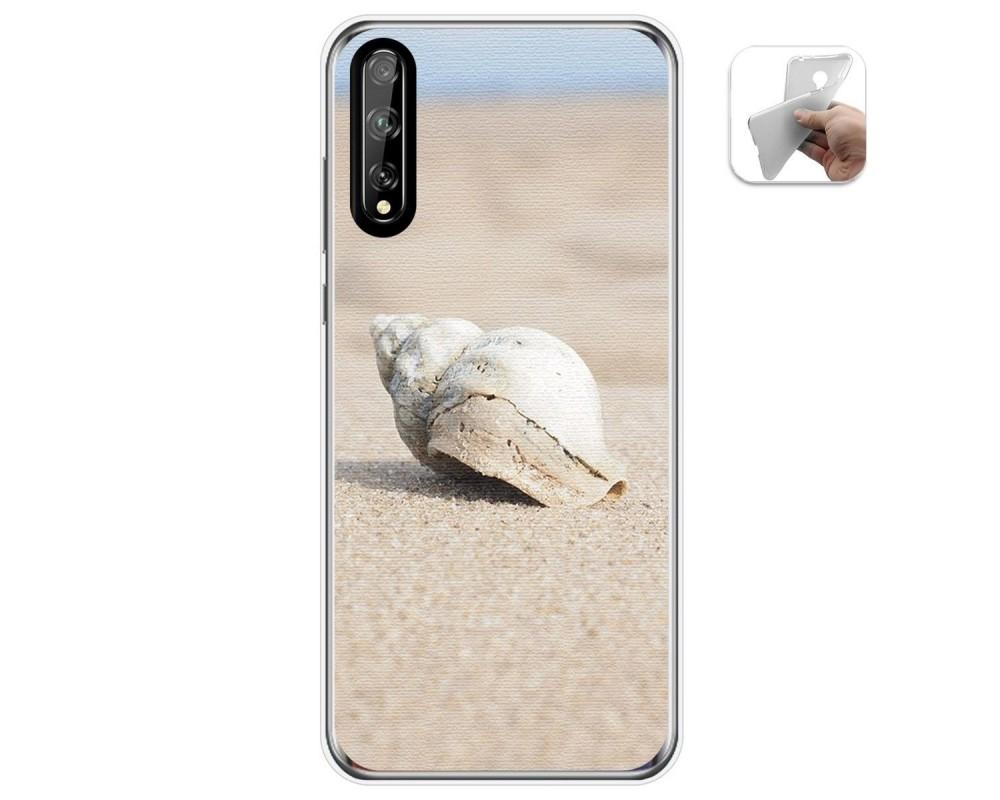 Funda Gel Tpu para Huawei P Smart S / Y8p diseño Concha Dibujos