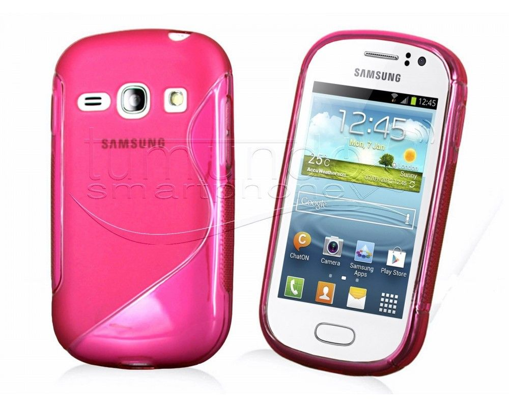 Funda Gel Tpu Samsung Galaxy Fame S6810 S Line Color Rosa