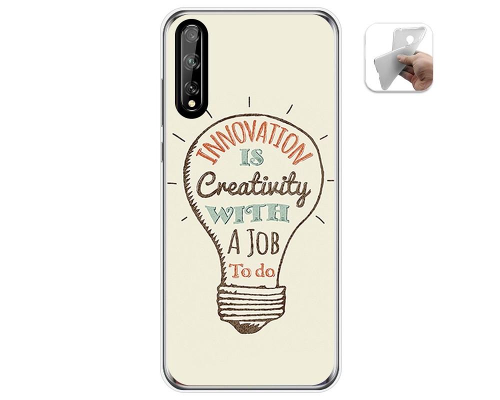 Funda Gel Tpu para Huawei P Smart S / Y8p diseño Creativity Dibujos