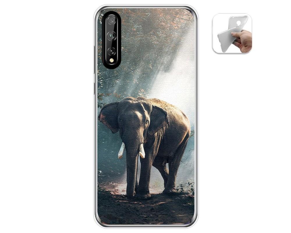 Funda Gel Tpu para Huawei P Smart S / Y8p diseño Elefante Dibujos