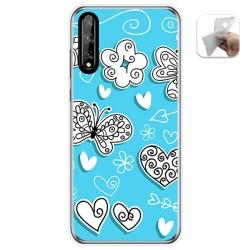 Funda Gel Tpu para Huawei P Smart S / Y8p diseño Mariposas Dibujos