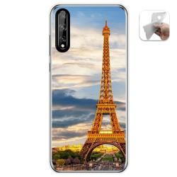 Funda Gel Tpu para Huawei P Smart S / Y8p diseño Paris Dibujos