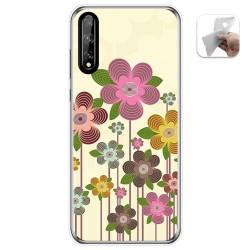 Funda Gel Tpu para Huawei P Smart S / Y8p diseño Primavera En Flor Dibujos