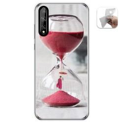 Funda Gel Tpu para Huawei P Smart S / Y8p diseño Reloj Dibujos