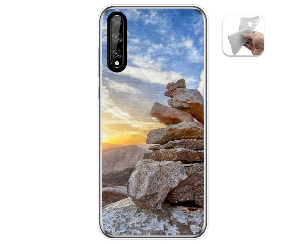 Funda Gel Tpu para Huawei P Smart S / Y8p diseño Sunset Dibujos