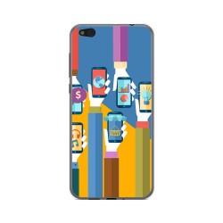 Funda Gel Tpu para Xiaomi Mi 5C Diseño Apps Dibujos
