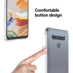 Funda Gel Tpu Anti-Shock Transparente para Lg K61
