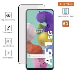 Protector Cristal Templado Completo 5D Full Glue Negro para Samsung Galaxy A51 5G Vidrio