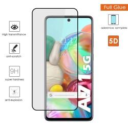 Protector Cristal Templado Completo 5D Full Glue Negro para Samsung Galaxy A71 5G Vidrio