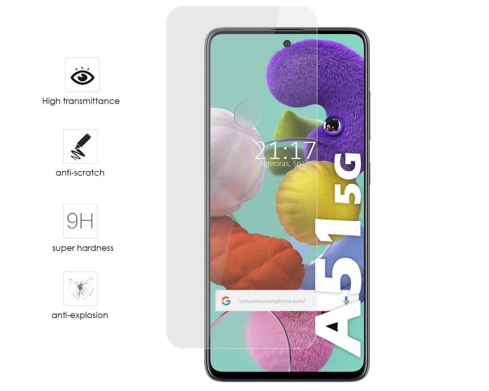 Protector Cristal Templado para Samsung Galaxy A51 5G Vidrio