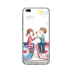 Funda Gel Tpu para Xiaomi Mi 5C Diseño Cafe Dibujos