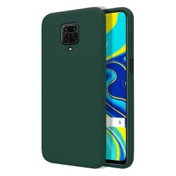 Funda Silicona Líquida Ultra Suave para Xiaomi Redmi Note 9S / Note 9 Pro color Verde Oscura