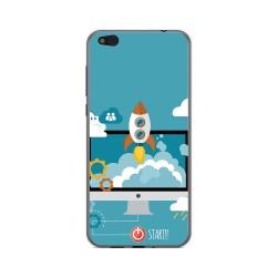 Funda Gel Tpu para Xiaomi Mi 5C Diseño Cohete Dibujos