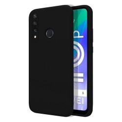 Funda Silicona Líquida Ultra Suave para Huawei Y6p color Negra