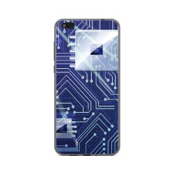 Funda Gel Tpu para Xiaomi Mi 5C Diseño Circuito Dibujos