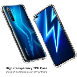 Funda Gel Tpu Anti-Shock Transparente para Realme 6 Pro