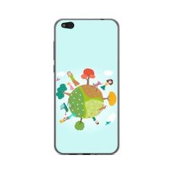 Funda Gel Tpu para Xiaomi Mi 5C Diseño Familia Dibujos