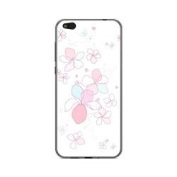 Funda Gel Tpu para Xiaomi Mi 5C Diseño Flores Minimal Dibujos