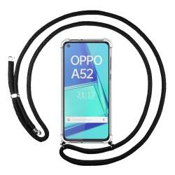 Funda Colgante Transparente para Oppo A52 / A72 con Cordon Negro