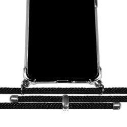 Funda Colgante Transparente para Realme 6 Pro con Cordon Negro