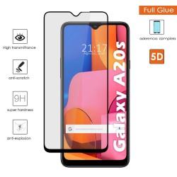 Protector Cristal Templado Completo 5D Full Glue Negro para Samsung Galaxy A20s