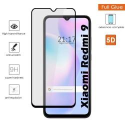 Protector Cristal Templado Completo 5D Full Glue Negro para Xiaomi Redmi 9A / 9AT