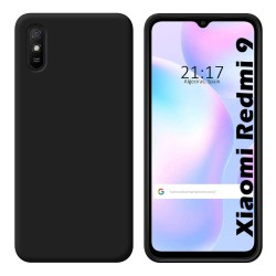 Funda Silicona Gel TPU Negra para Xiaomi Redmi 9A / 9AT