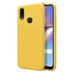 Funda Silicona Líquida Ultra Suave para Samsung Galaxy A10s color Amarilla
