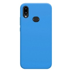 Funda Silicona Líquida Ultra Suave para Samsung Galaxy A10s color Azul Celeste