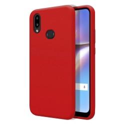 Funda Silicona Líquida Ultra Suave para Samsung Galaxy A10s color Roja