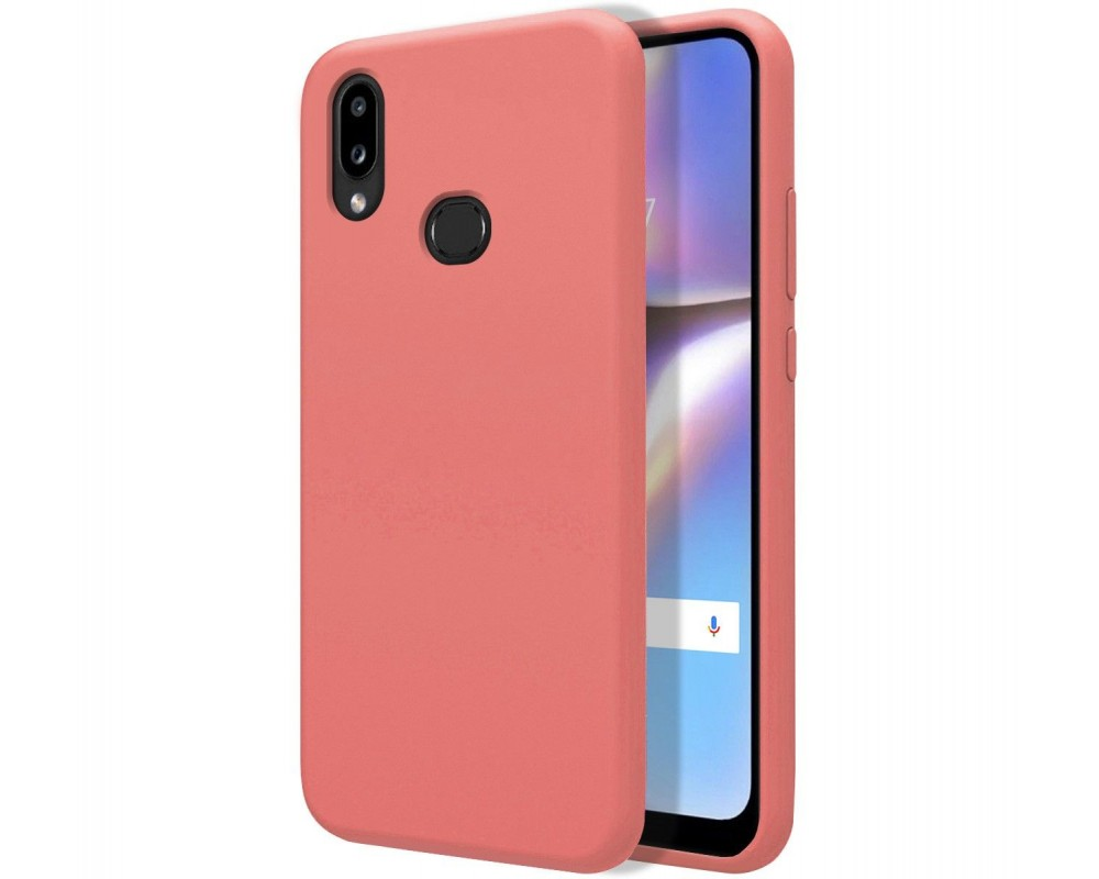 Funda Silicona Líquida Ultra Suave para Samsung Galaxy A10s color Rosa