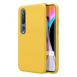Funda Silicona Líquida Ultra Suave para Xiaomi Mi 10 / Mi 10 Pro color Amarilla