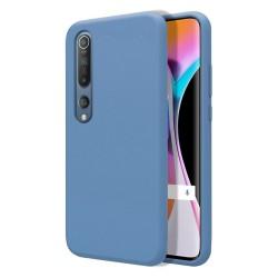 Funda Silicona Líquida Ultra Suave para Xiaomi Mi 10 / Mi 10 Pro color Azul Celeste